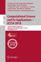 Computational Science and Its Applications     ICCSA 2018 PDF