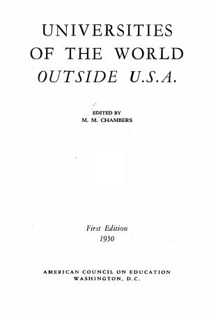 Universities of the World Outside U S A  PDF