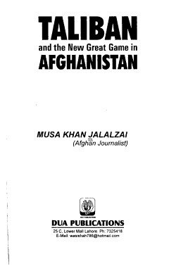 Taliban and the New Great Game in Afganistan PDF