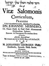 Vitae Salomonis curriculum