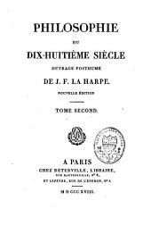 Philosophie du dix-huitième siècle: Volume2