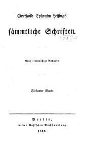 Gotthold Ephraim Lessings sämmtliche schriften: Band 7
