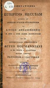 Observationes ad Euripides Hecubam
