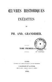 Oeuvres historiques inédites: Volume1