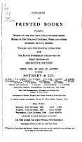 Catalogues of Sales PDF