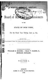 Annual Report of the Board of Railroad Commissioners of the State of New York for the Fiscal Year Ending: Volume 1