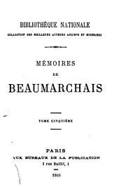 Memoires: collection des meilleurs auteurs anciens et modernes, Volume5