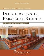 Introduction to Paralegal Studies: A Critical Thinking Approach, Edition 5