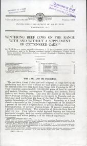 Wintering beef cows on the range with and without a supplement of cottonseed cake: Volumes 601-625