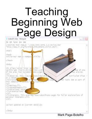 Teaching Beginning Web Page Design