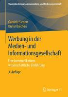 Werbung in der Medien  und Informationsgesellschaft PDF