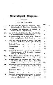 The Mineralogical Magazine and Journal of the Mineralogical Society: Volume 4