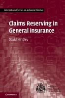 Claims Reserving in General Insurance PDF