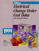 Means Electrical Change Order Cost Data  1999 PDF