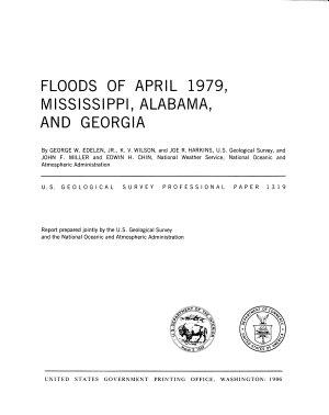 Floods of April 1979  Mississippi  Alabama  and Georgia PDF