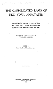 McKinney's Consolidated Laws of New York Annotated: With Annotations from State and Federal Courts and State Agencies, Book 53