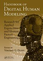 Handbook of Digital Human Modeling PDF