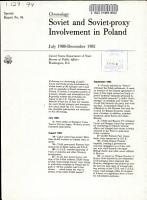 Soviet and Soviet proxy Involvement in Poland  July 1980 December 1981 PDF
