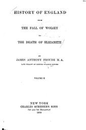 History of England from the Fall of Wolsey to the Death of Elizabeth: Volume 2