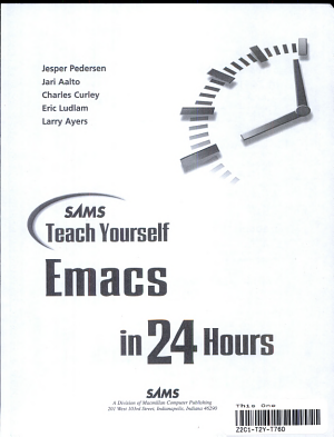 Sams Teach Yourself Emacs in 24 Hours PDF