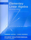 Student Solutions Manual to accompany Elementary Linear Algebra with Applications  10e PDF