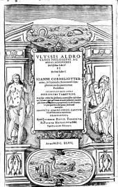Ulyssis Aldrovandi ... De piscibus libri 5 et de cetis liber unus