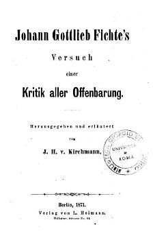 Versuch einer Kritik aller Offenbarung PDF