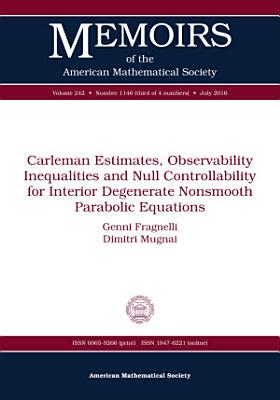 Carleman Estimates  Observability Inequalities and Null Controllability for Interior Degenerate Nonsmooth Parabolic Equations