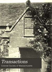 Transactions of the Colonial Society of Massachusetts