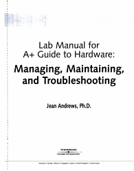 Lab Manual for A  Guide to Hardware PDF