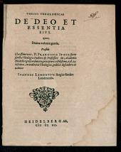 Theses theol. de Deo et essentia eius