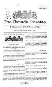 The Canada Gazette