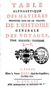 Histoire générale des voyages: Volume63