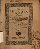 Theses de peccato