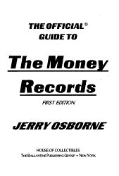 The Official Guide to the Money Records PDF