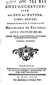 Anti-Lucretius, sive de Deo et natura, libri novem: Volume 2