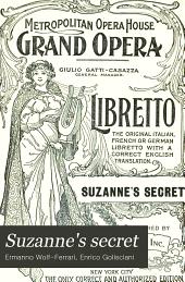 Suzanne's secret: (Il segraeo di Susanna); interlude in one act