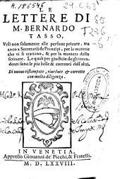 Le lettere di M. Bernardo Tasso ...