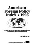 American Foreign Policy Index PDF
