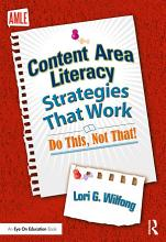 Content Area Literacy Strategies That Work PDF