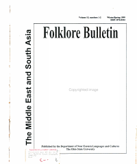 The Middle East   South Asia Folklore Bulletin PDF