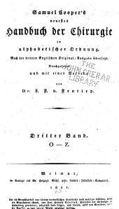 Neuestes Handbuch der Chirurgie in alphabetischer Ordnung: Band 3