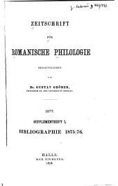 Zeitschrift für romanische Philologie ...: Supplementheft, Band 1