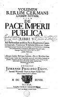 VOLUMEN RERUM GERMANICARUM NOVUM  SIVE DE PACE IMPERII PUBLICA LIBRI V  PDF