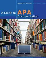 A Guide to APA Documentation PDF
