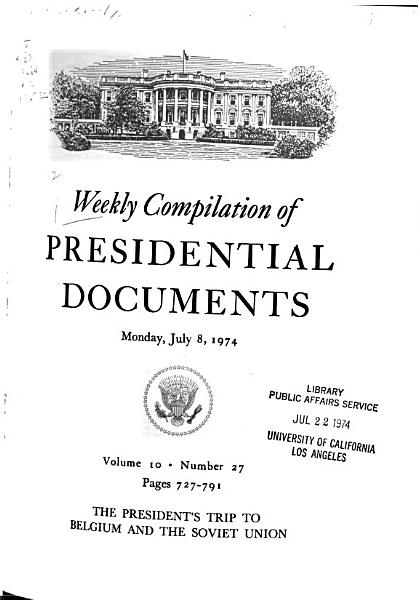 Download Weekly Compilation of Presidential Documents Book