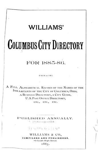 Columbus City Directory PDF