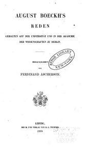 August Boeckh's gesammelte kleine Schriften: Bd. Reden. 1859