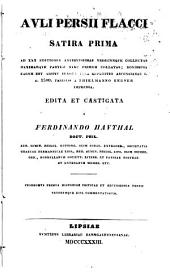 Satira prima, ad XXX editiones antiquissimas edita et castigata a Ferdinando Hauthal