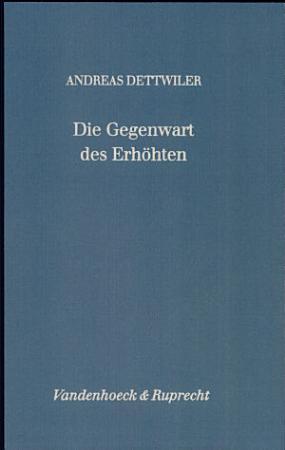 Die Gegenwart des Erh  hten PDF